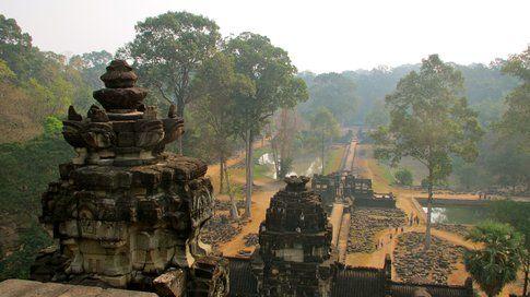 Dall'alto di uno dei templi dell' Angkor