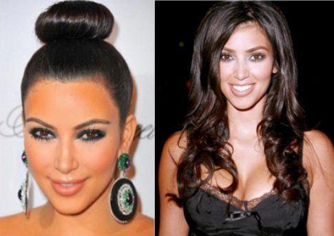 Kim Kardashian con lo chignon ottenuto con l'uso di una ciambella (o sarà un calzino della piccola North...?)