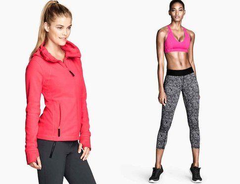 Proposte di Look sportivi di H&M - fonte: hm.com
