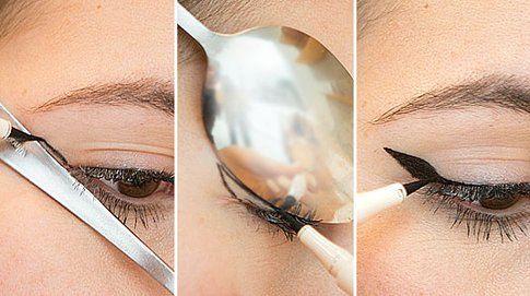 Eyeliner - La tecnica del cucchiaino