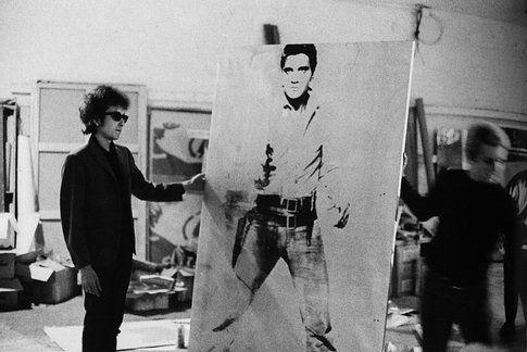 Bob Dylan regge l'opera Double Elvis (Ferus Type) - www.extravaganzi.com