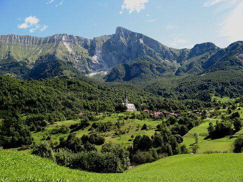 La cittadina di Dresenza in Slovenia