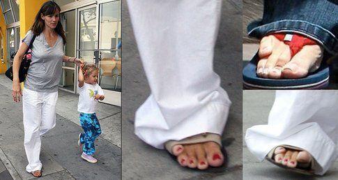L'orribile piede di Jennifer Garner