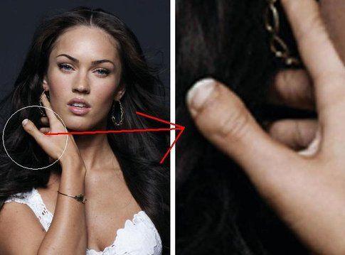 Megan Fox ha i pollici delle mani deformati