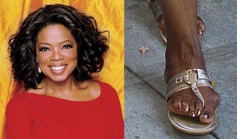 Oprah Winfrey ed i suoi terribili piedi