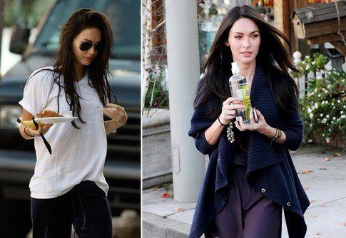 Megan Fox con le posate di plastica e bibite usa e getta