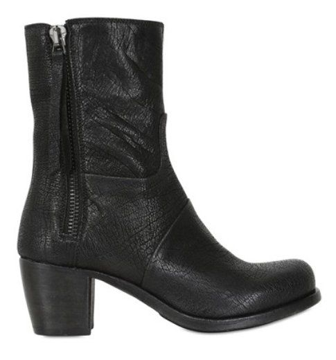Stivali in pelle con fibbia laterale Corvari 299 euro ph Luisa via Roma