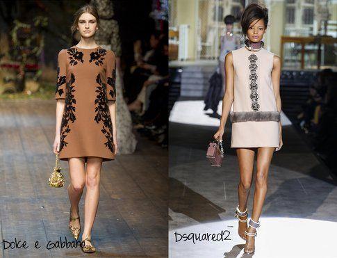 Dolce e Gabbana e Dsquared2 interpretano il mood sixites in modo più semplice, prediligendo abitini- fonte : Indigitalimages.com