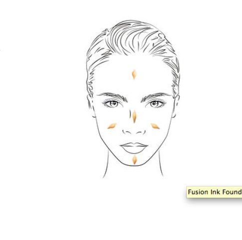 Per stendere al meglio il fondotinta partite dal naso e procedete verso le estremità del viso! - fonte: yslbeauty.com