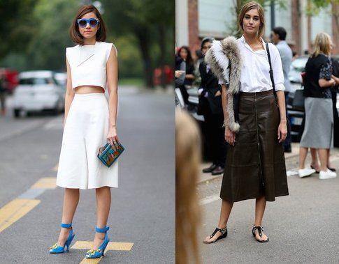 La gonna midì è sempre molto amata anche durante le Fashion Week- fonte: ellecanada.com