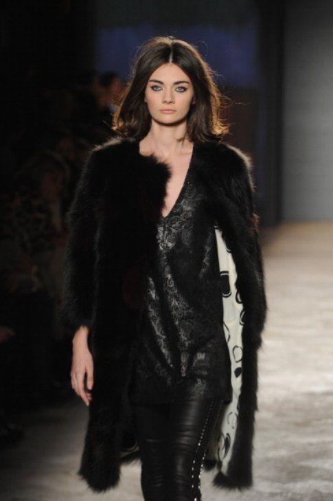 Simonetta Ravizza black lather and fur FW 14-15