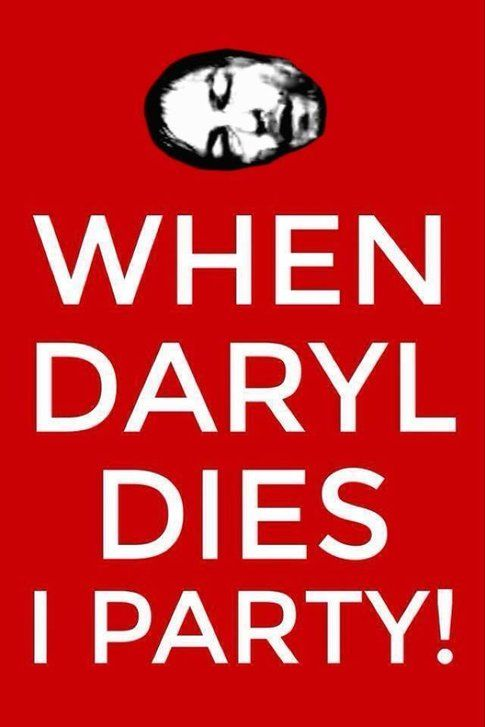 La propaganda contro-Daryl - foto dai commenti a Facebook The Walking Dead