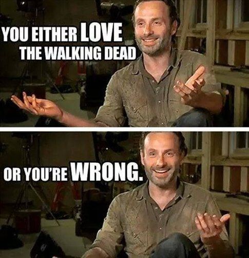 Foto dai commenti a Facebook The walking dead