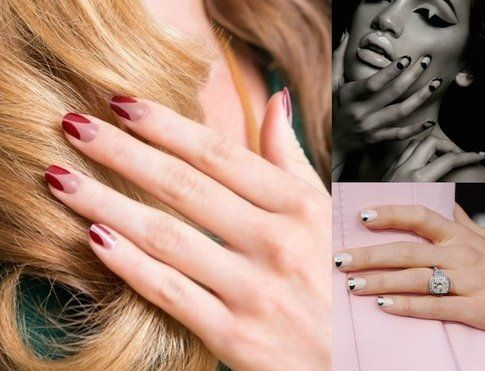 Proposte di french manicure con geometrie particolari