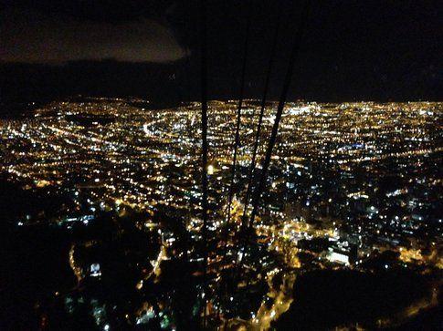Vista su Bogotà dal Monserrate