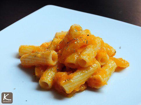 Tortiglioni alla zucca e peperone giallo
