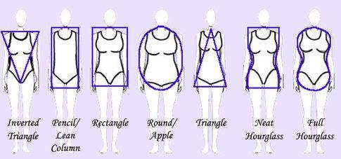 Body shapes - Fonte: saraelman.com