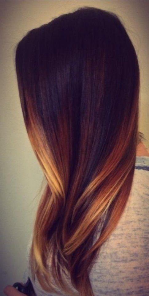 Ombre hair castano