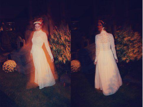 Annabeth del blog Styling Dutchman vestita da sposa cadavere/fantasma: fonte : https://kittenhood.ro/