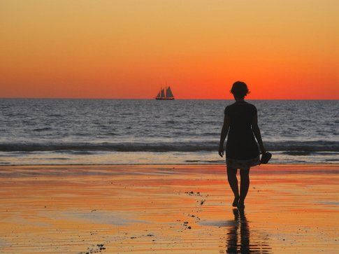 Al tramonto a Broome, Australia - foto di Elisa Chisana Hoshi