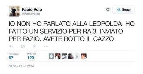 Fabio Volo si sfoga in radio