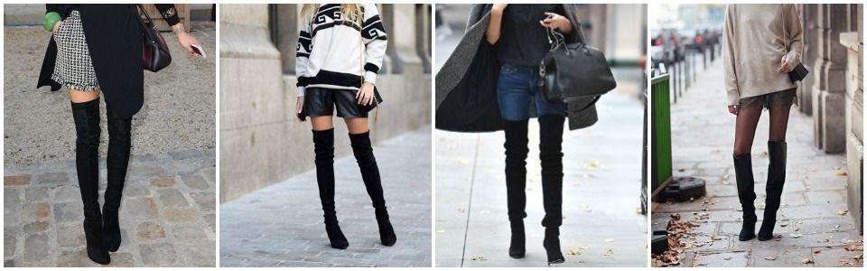 Come indossare gli stivali alti fino al ginocchio Bigodino