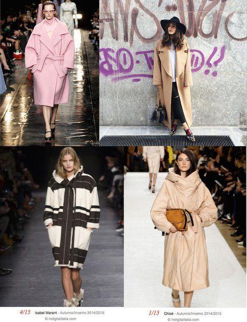 Cappotti Over e a Uovo dalle sfilate e da Instagram - fonte : @eleonoracarisi su IG e vanityfair.it