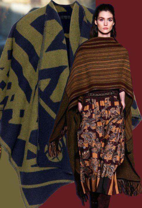 La coperta-mantella realizzata da Etro