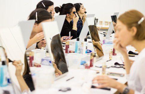 Le Blogger durante la Makeup lesson con Rajan Tolomei