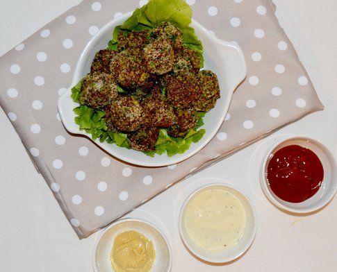 Polpettine di quinoa e spinaci. Ricetta e foto di Roberta Castrichella.