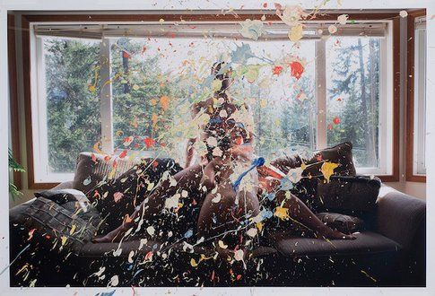 Splatter Paint, 2013, © Sarah Anne Johnson