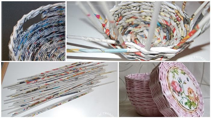 Come fare un cesto con i giornali riciclati: 3 idee regalo per Natale