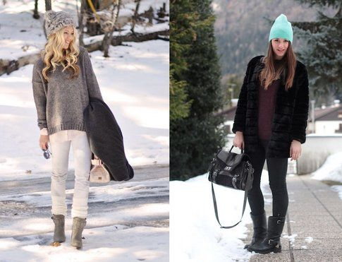 Maegan  di lovemaegan.com e Carlotta di Styleandtrouble.com sulle nevi!