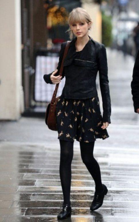 Taylor Swift, outfit da pioggia - Foto: StyleList Pinterest