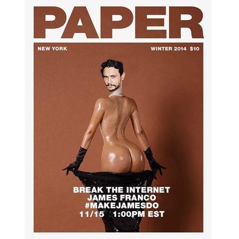 James Franco in una parodia della copertina di Papermag - foto Papermag.com
