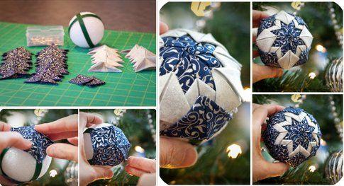 Palline di Natale in Patchwork - Fonte:  www.sewmccool.com