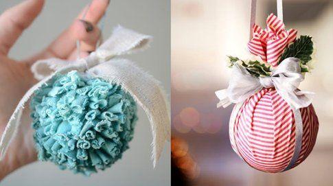 Palline di Natale con la stoffa - Foto Pinterest.com