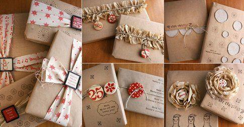 Regali di Natale con carta da pacchi ed alimentare - Fonte Pinterest.com