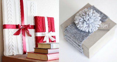 Maglieria di riciclo per confezioni regalo - Fonte Pinterest.com