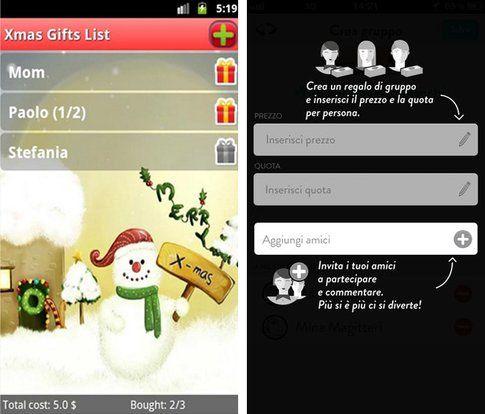 Lista regali di Natale e WishTagger
