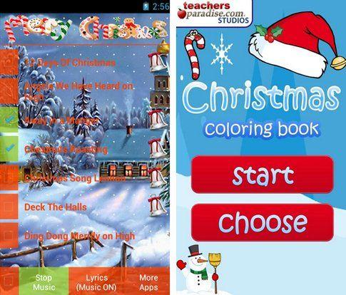 Canti natalizi e Natale coloring book