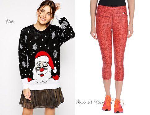 Maglione natalizio di Asos, leggings Nike su yoox!