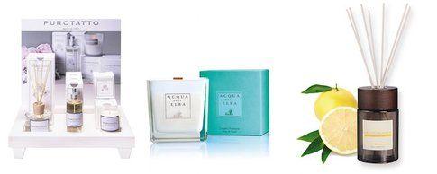 Candele e fragranze di Purotatto, Acqua dell'Elba e Mediterranea Cosmetici