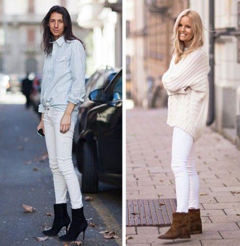 Pantaloni bianchi: 10 modi per indossarli in inverno | Bigodino