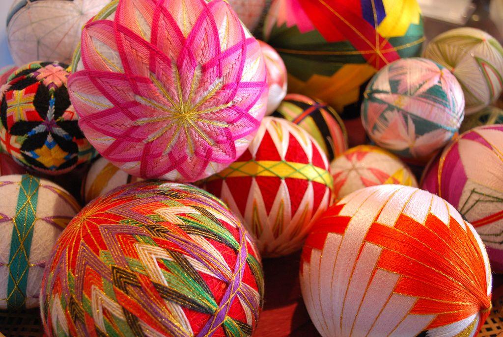 Temari: meravigliose decorazioni di filo dal Giappone