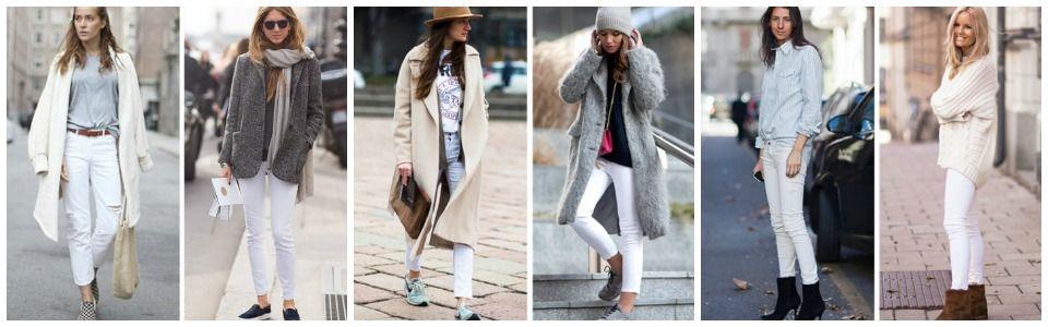 Pantaloni bianchi: 10 modi per indossarli in inverno