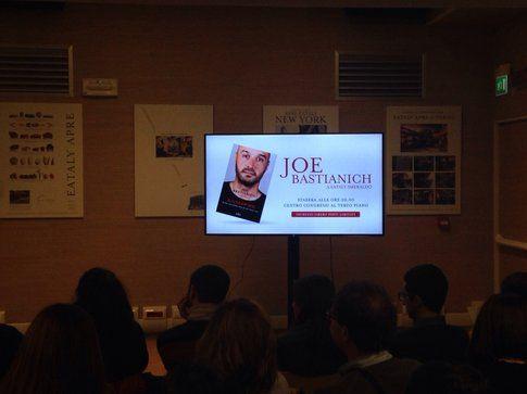 Presentazione libro Joe Bastianich - immagine a cura della redazione Bigodino.it