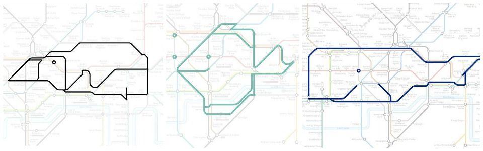 Gli animali della metropolitana di Londra
