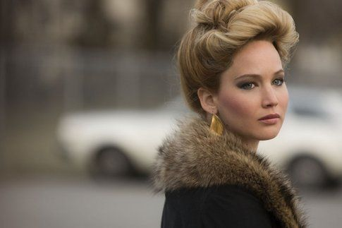 Jennifer Lawrence sul set di American Hustle