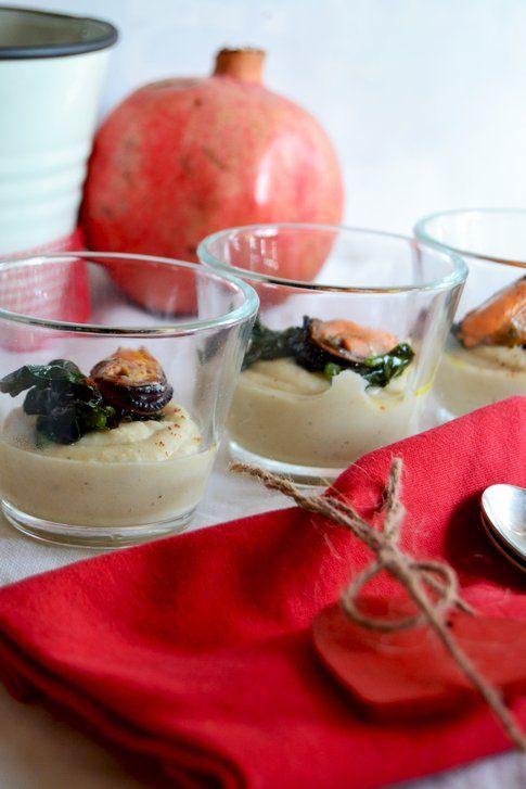Crema di fagioli e cozze alla paprika. Ricetta e foto di Roberta Castrichella.